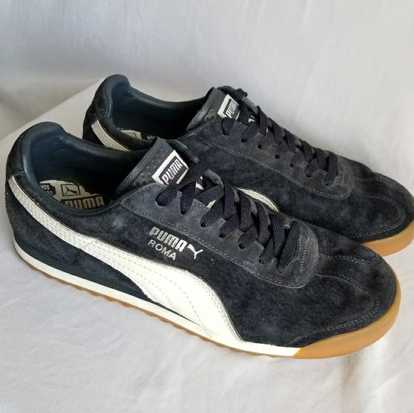 économiser 5fe4c 850ed Puma Roma suede sneakers dark blue great condition